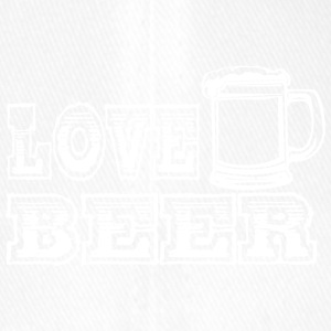 LOVE BEER red - Flexfit Baseball Cap