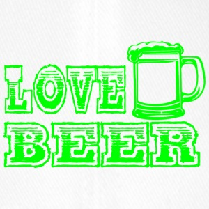 LOVE BEER groen - Flexfit baseballcap
