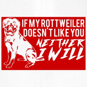 Hund / Rottweiler: If My Rottweiler Doesn´t Like - Flexfit Baseballkappe