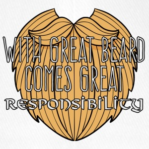 Wikinger: With Great Beard Comes Great Responsibil - Flexfit Baseballkappe