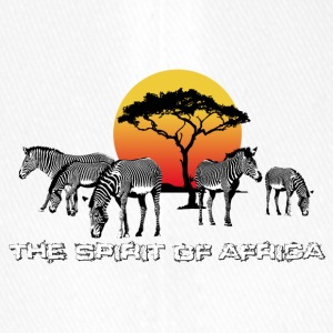 the Spirit of Africa Zebras Sunset Safari - Flexfit Baseball Cap
