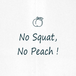 No squat, no peach in blue - Casquette Flexfit