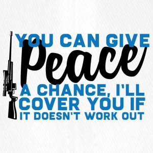 Military / Soldiers: You Can Give Peace A Chance, - Flexfit Baseball Cap