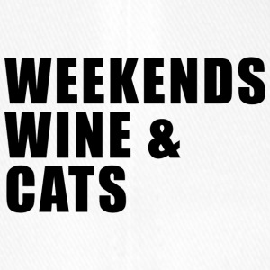 WEEKEND. WINE AND CATS! - Flexfit Baseballkappe