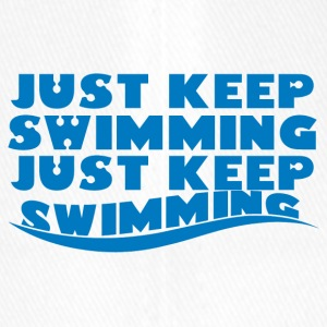 Swimming / Swimmer: Just Keep Swimming - Flexfit Baseball Cap