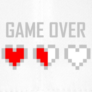 game_over_tshirt_vector_by_warumono1989-d7tn9e8 - Cappello con visiera Flexfit