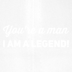 you're a man i am a legend weiss - Flexfit Baseballkappe