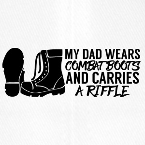 Military / Soldiers: My Dad Wears Combat Boots And - Flexfit Baseball Cap