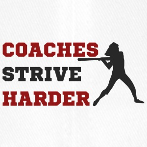 Coach / Trainer: Coaches Strive Harder - Flexfit Baseballkappe