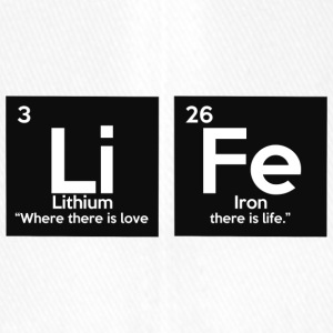Periodic table elements: Li Fe - Life - Flexfit Baseball Cap