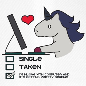 Eenhoorn: Unicorn Single, Taken of in Love met ... - Flexfit baseballcap