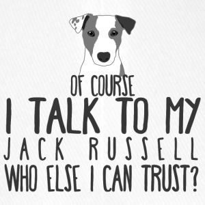 Hund / Jack Russell: Of Course I Talk To My Jack - Flexfit Baseballkappe