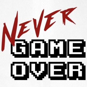 Big_Never_game_Over_white - Flexfit baseballcap