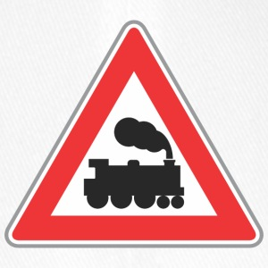 Road sign train with smoke - Flexfit Baseball Cap