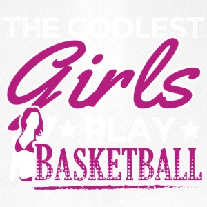 COOLEST GIRLS PLAY BASKETBALL - Flexfit Baseballkappe