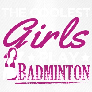 COOLEST GIRLS PLAY BADMINTON - Flexfit Baseballkappe
