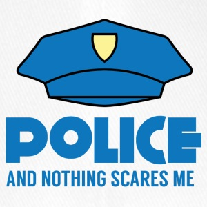 Polizei: Police And Nothing Scares Me - Flexfit Baseballkappe