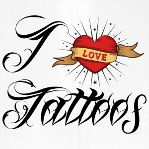 Tattoo / tattoo: I Love Tattoos - Flexfit Baseball Cap