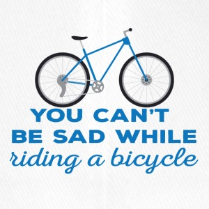Fahrrad: You can´t be sad while riding a bicylce. - Flexfit Baseballkappe