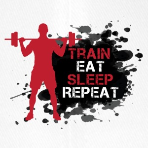 Train - Eat - Sleep - Repeat - Flexfit Baseballkappe