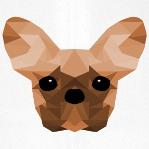 French Bulldog Low Poly Design oransje - Flexfit baseballcap