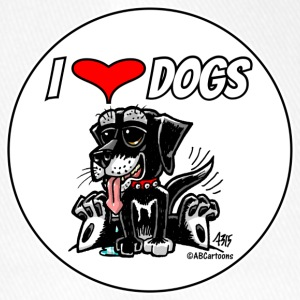 I Love Dogs - Cappello con visiera Flexfit