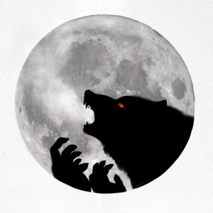Werewolf in front of moon - Flexfit Baseball Cap