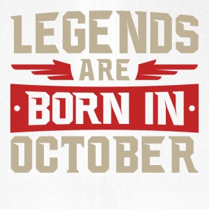 LEGENDS ARE BORN IN OCTOBER - Flexfit Baseball Cap