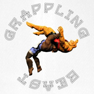 Grappling Beast (ape vs jaguar) - Flexfit Baseball Cap