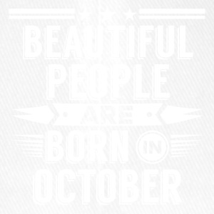 Beatiful people born in October - T-Shirt - Flexfit Baseball Cap