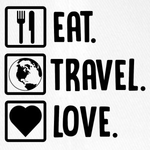 ++Eat, Travel, Love++ - Flexfit Baseballkappe