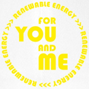 RENEWABLE energy for you and me - yellow - Flexfit Baseball Cap