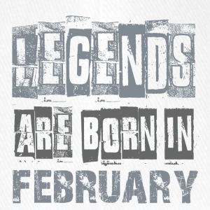 LEGENDS ARE BORN IN FEBRUARY - Flexfit Baseballkappe