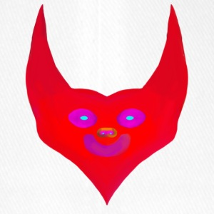 heart horns devil satan abstract - Flexfit Baseball Cap