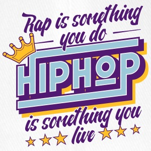 Hip Hop is iets dat je leeft! - Flexfit baseballcap