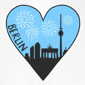 Berlin by night, heart, city, I love, Silhouette - Flexfit Baseball Cap
