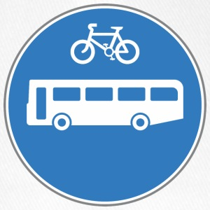 Road sign bus and bicycle - Flexfit Baseball Cap