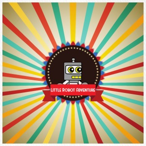 Little Robot Adventure - Robot Retro Logo - Flexfit basebollkeps