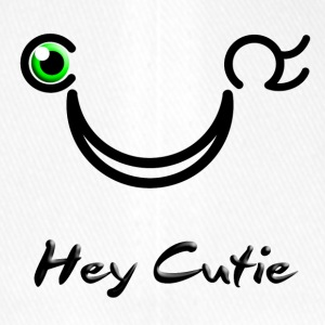 Hey Cutie Green Eye Wink - Flexfit Baseball Cap