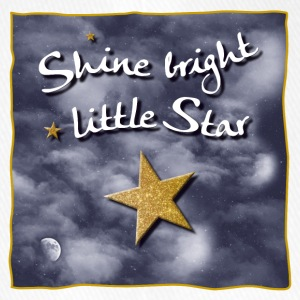 Shine bright / bright light small star - Flexfit Baseball Cap