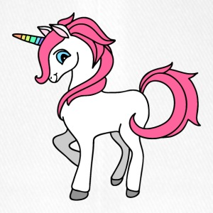 Sweet Unicorn with pink mane and Rainbow Horn - Flexfit Baseball Cap