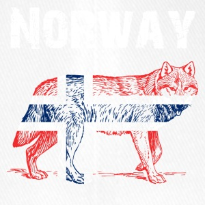Nation-Design Norway Wolf - Flexfit Baseballkappe