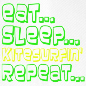 Eat Sleep kitesurfing GJENTA - Flexfit baseballcap