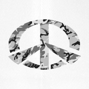 Peace - Snow Camo Edition - Flexfit Baseballkappe