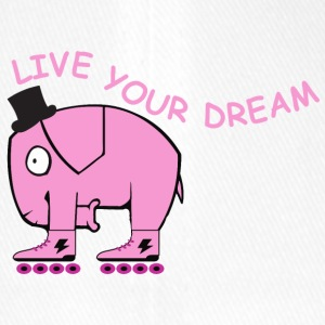 Live your dream elephant - Flexfit Baseballkappe