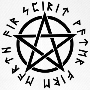Pentagram, pentacle, magic, symbol, runen - Flexfit Baseballkappe
