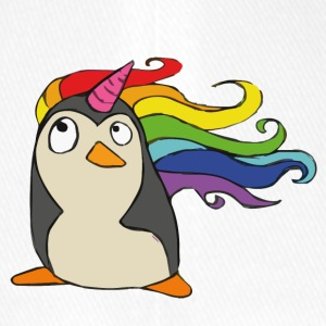 Punguin Unicorn Rainbow - Flexfit basebollkeps