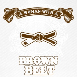 No woman with brown belt - Flexfit Baseball Cap