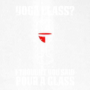 Yoga or wine funny sayings - Flexfit Baseball Cap