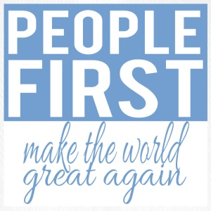People first - make the world great again - Flexfit Baseball Cap